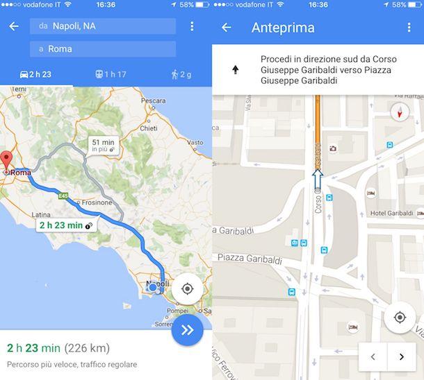 Come creare itinerari Google Maps