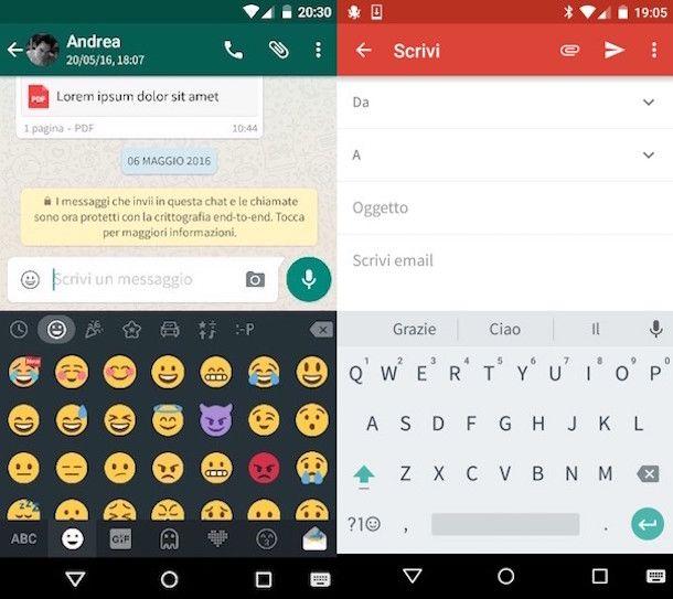 Come cambiare la tastiera Android