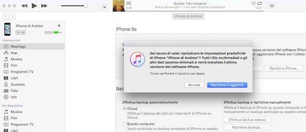 Come ripristinare iPhone