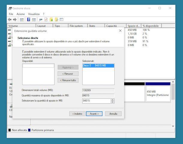 Come riunire un hard disk partizionato