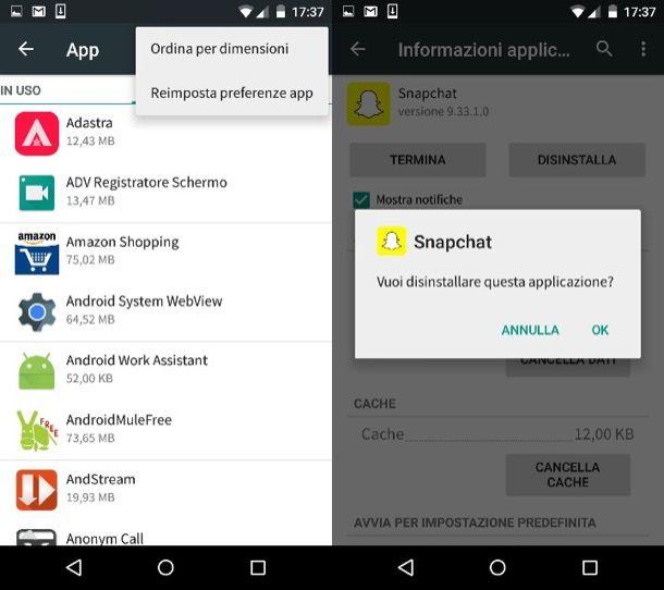 Come liberare spazio su disco Android