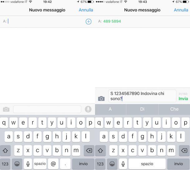 Come mandare SMS anonimi