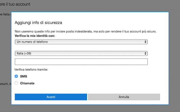 Come sbloccare account Hotmail