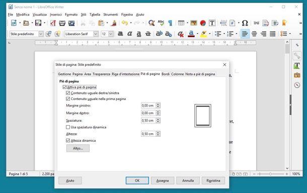 Come numerare le pagine con Open Office