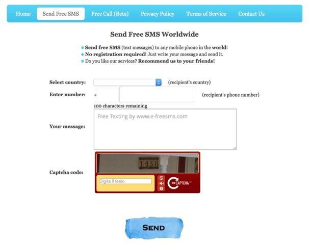 Come mandare SMS anonimi con TIM e Wind
