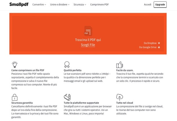 Come comprimere un file PDF