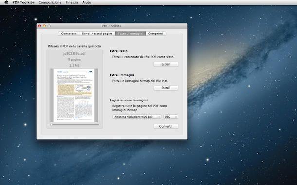 Come trasformare un PDF in JPG