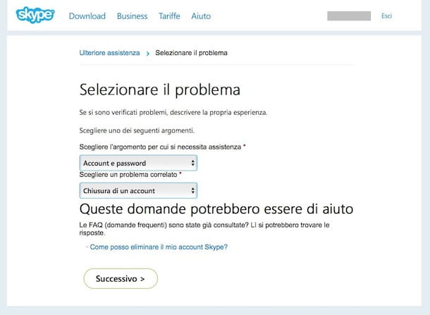Come cancellarsi da Skype