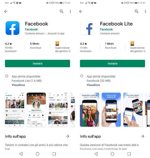 Facebook su Android