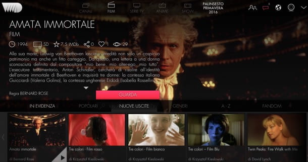 Siti per vedere film in streaming