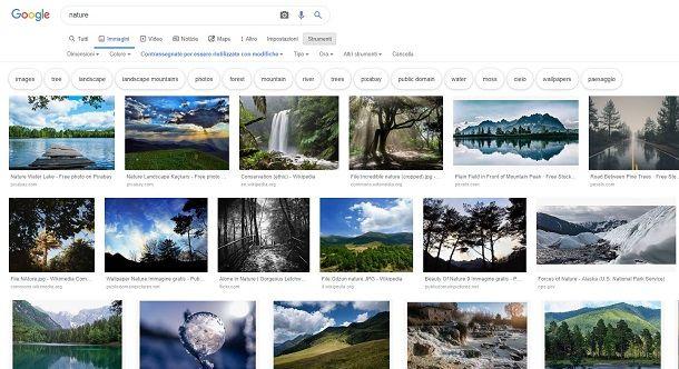 Scaricare immagini gratis da Google Immagini