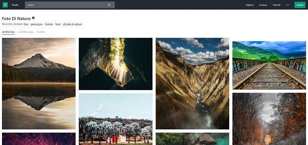Scaricare immagini gratis da Pexels