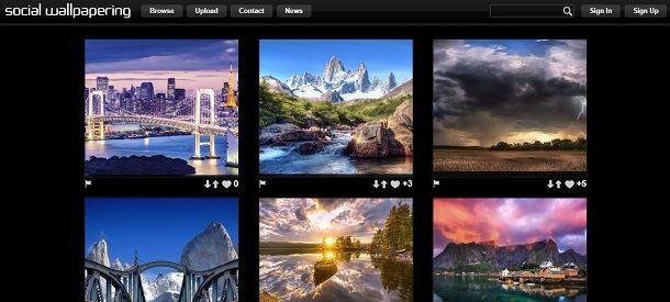 Scaricare immagini gratis da Social Wallpapering
