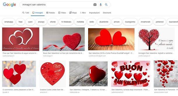 Scaricare immagini San Valentino