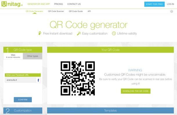 Unitag QR code Generator