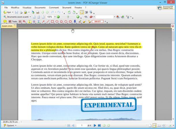 Come creare file PDF