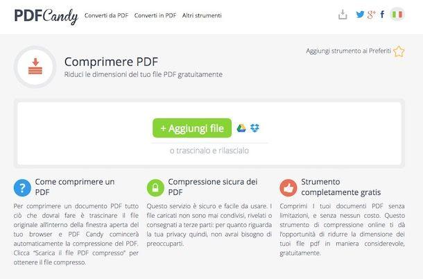 Come comprimere PDF online
