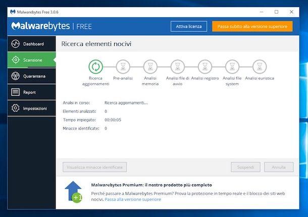 Come eliminare malware