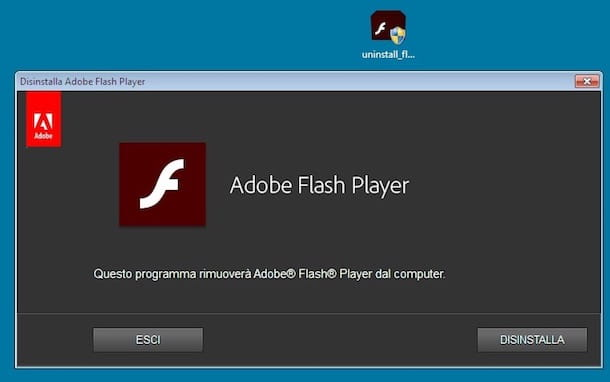 disinstallare flash player mac