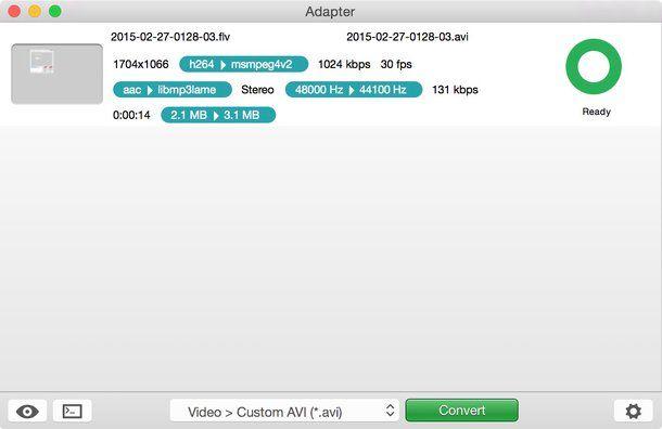 Come convertire file FLV in AVI