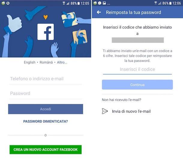 Come trovare password Facebook