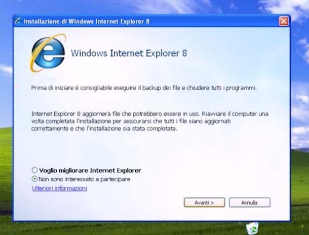 Come reinstallare Internet Explorer