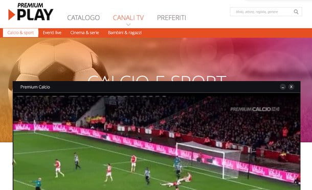 Come guardare partite in streaming