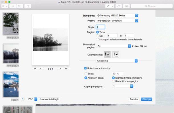 Convertire JPEG in PDF