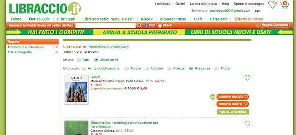 Acquistare libri online su Libraccio