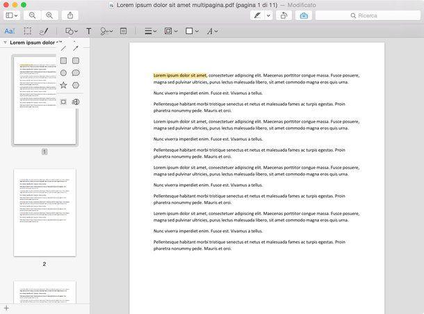 Come modificare PDF Mac