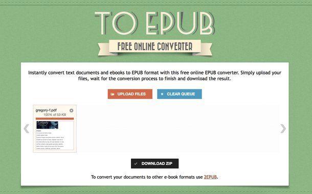 Come trasformare PDF in ePub