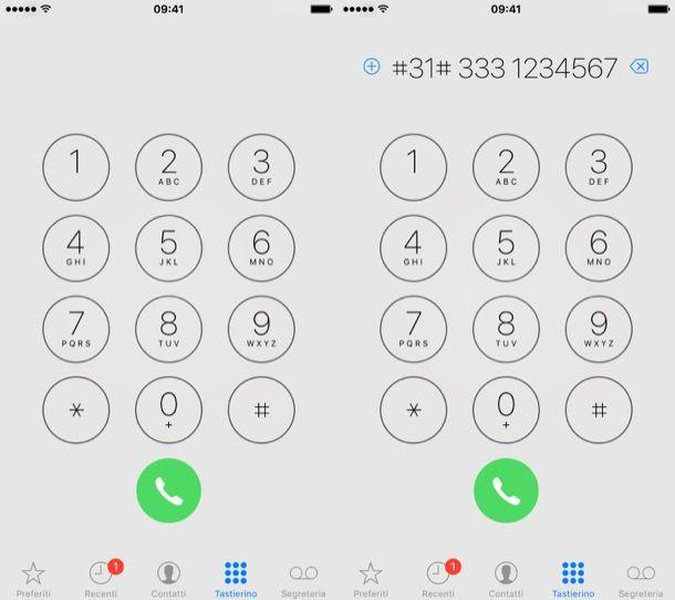 nascondere numero cellulare iphone X