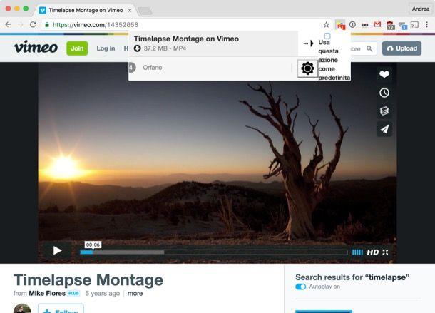 scaricare video vimeo