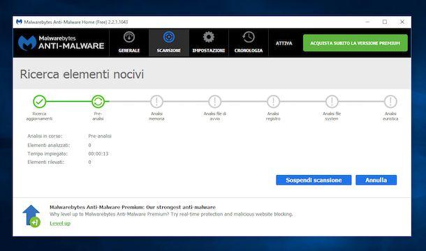 Come rimuovere malware