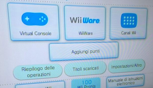 Come scaricare giochi Wii