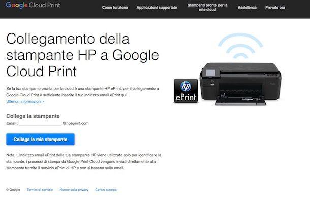 Come stampare da Android