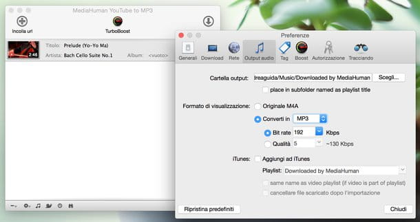 Come scaricare musica da YouTube Mac