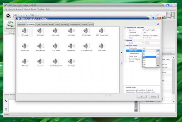 Trasformare video in MP3