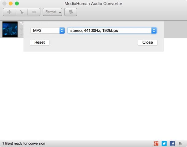 Trasformare video in MP3