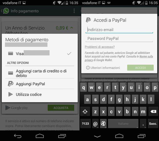 Come pagare WhatsApp con PayPal