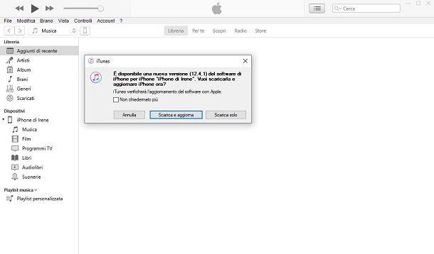 Aggiornare iOS da PC e Mac
