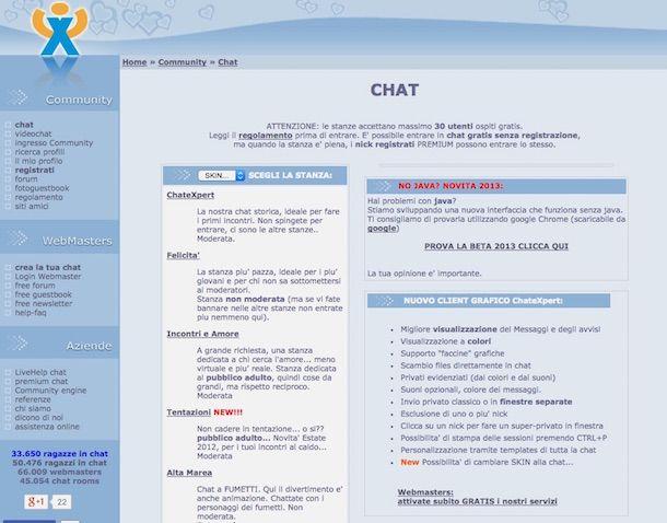 Siti per chattare gratis senza iscrizione