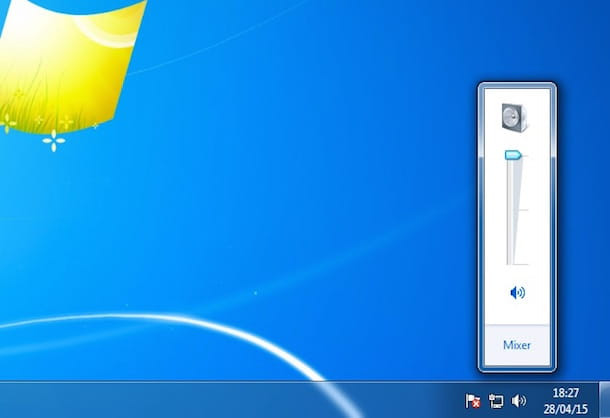 Screenshot che mostra come aumentare volume Pc su Windows 7