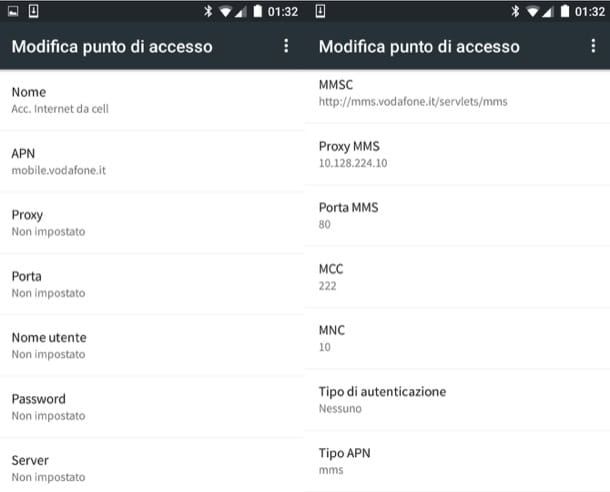 Come configurare Internet Vodafone
