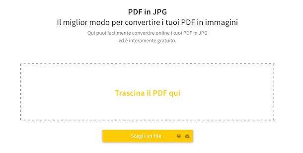 Screenshot del servizio web SmallPDF