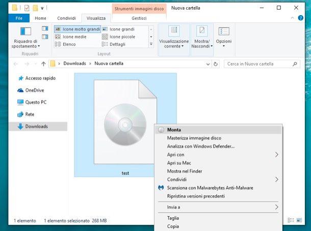Come montare file ISO