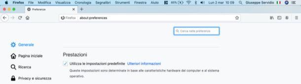 Velocizzare apertura pagine Firefox