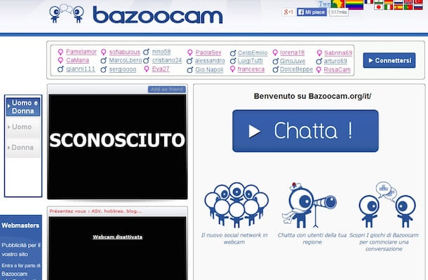 Screenshot chat Bazoocam