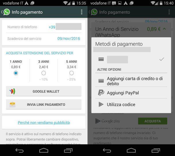 Come acquistare WhatsApp
