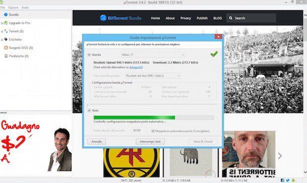 Come testare porte uTorrent